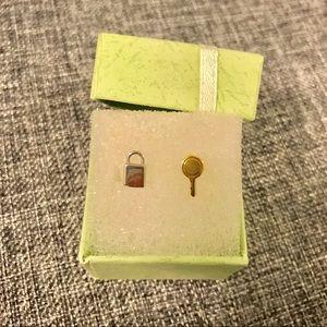 Marc Jacobs lock & key earrings